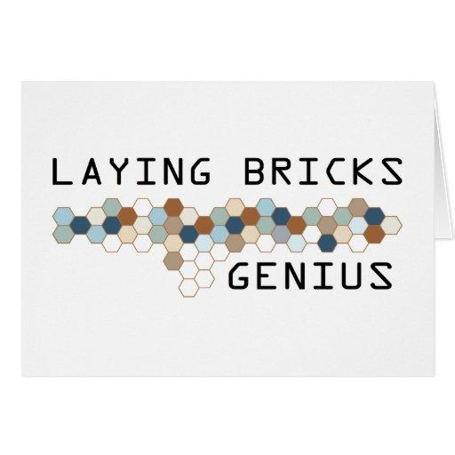 Laying Bricks Genius Card
