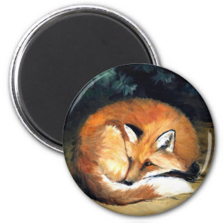 """Laying Fox"" Wildlife Art Reproduction Magnet"