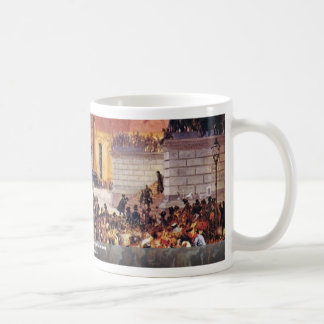Laying Out The Märzgefallenen By Adolph Menzel Coffee Mug
