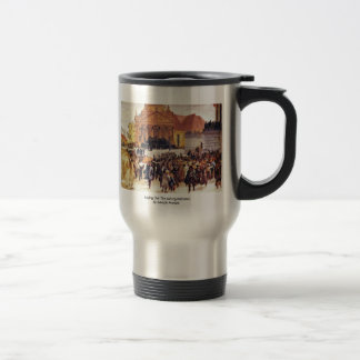 Laying Out The Märzgefallenen By Adolph Menzel 15 Oz Stainless Steel Travel Mug