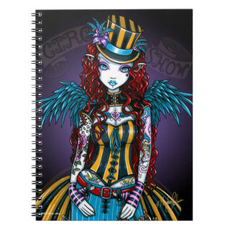 """Layla"" Steampunk Circus Tattoo Sideshow Notebook"