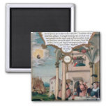 Lazarus and the Rich Man's Table Square Magnet