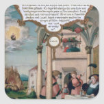 Lazarus and the Rich Man's Table Square Stickers