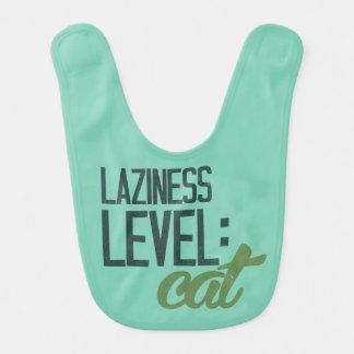 Laziness level: cat bib