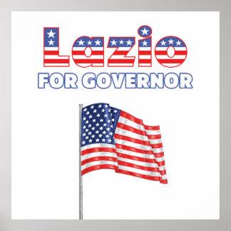 Lazio for Governor Patriotic American Flag Print