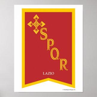 Lazio Italy Region Crest Art Print