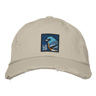 Lazuli Bunting Embroidered Cap