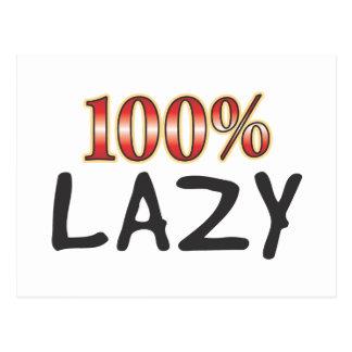 Lazy 100 Percent Postcard