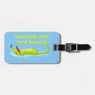 Lazy Alligator Kids Luggage Tag