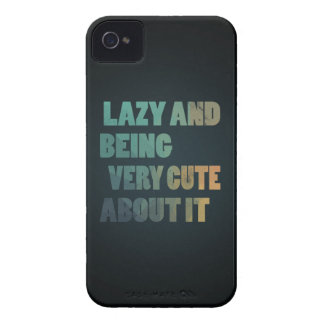 Lazy and being very cute about it iPhone 4 Case-Mate case