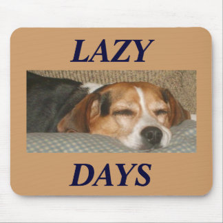 Lazy Beagle Mouse Mat