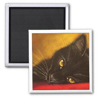 Lazy Black Cat - Magnet
