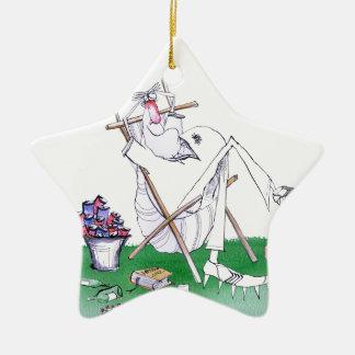 lazy bones - cricket , tony fernandes ceramic star decoration