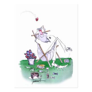 lazy bones - cricket , tony fernandes postcard