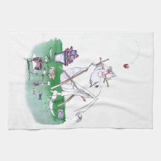 Lazy Bones - cricket, tony fernandes Tea Towel