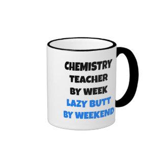 Lazy Butt Chemistry Teacher Ringer Mug