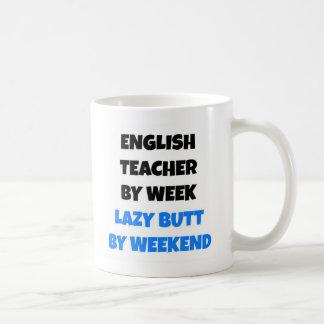 Lazy Butt English Teacher Basic White Mug