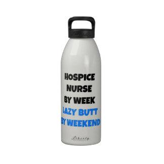 Lazy Butt Hospice Nurse Water Bottle