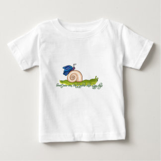 Lazy Butterfly Design Baby T-Shirt