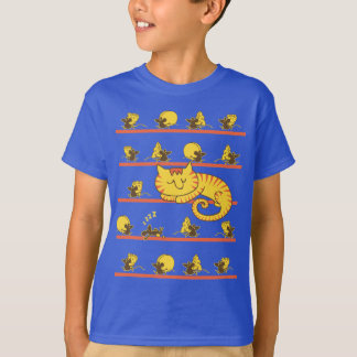 Lazy Cat and Mice T-Shirt