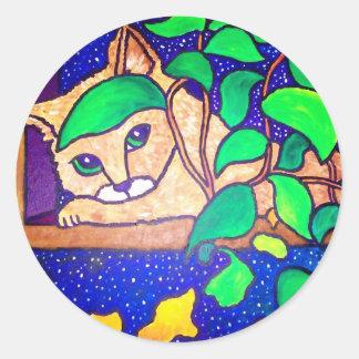 Lazy Cat by Piliero Classic Round Sticker