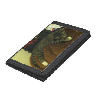 Lazy Cat Trifold Wallet