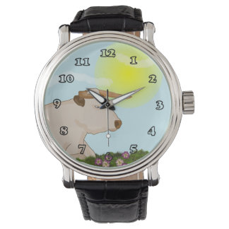Lazy Cow Vintage Strap Watch