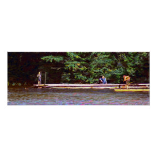 Lazy Day at the Dock Horizontal Poster / Print