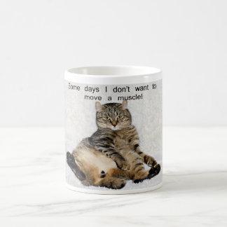 Lazy Day Cat Basic White Mug