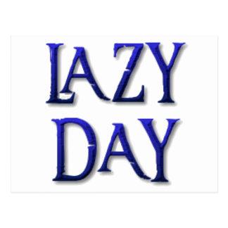 Lazy day postcard