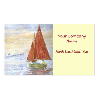 Lazy-day Sail Profile Card Business Card Template