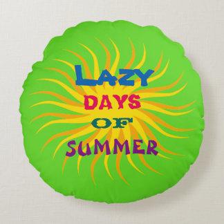 Lazy Days of Summer Round Cushion