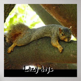 Lazy days print