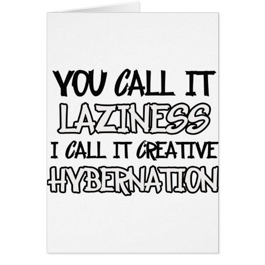 Lazy designs card