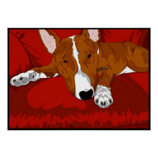 Lazy English Bull Terrier Poster
