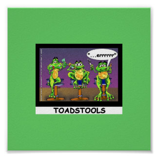 Lazy Frogs aka Toadstools Funny Poster
