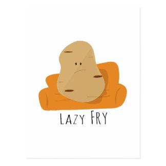 Lazy Fry Postcard