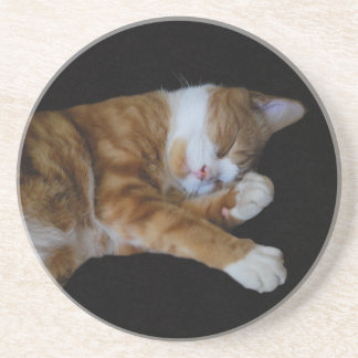 Lazy Ginger cat Coaster