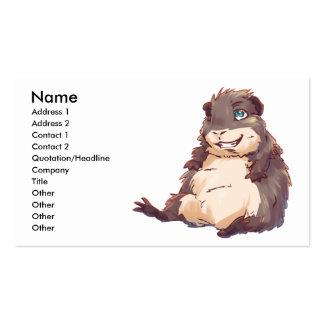 Lazy Guinea Pig Business Cards