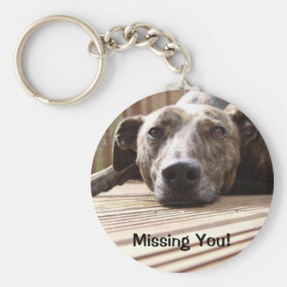 Lazy Lurcher Basic Round Button Key Ring