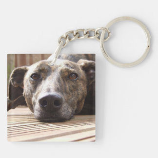 Lazy Lurcher Key Ring