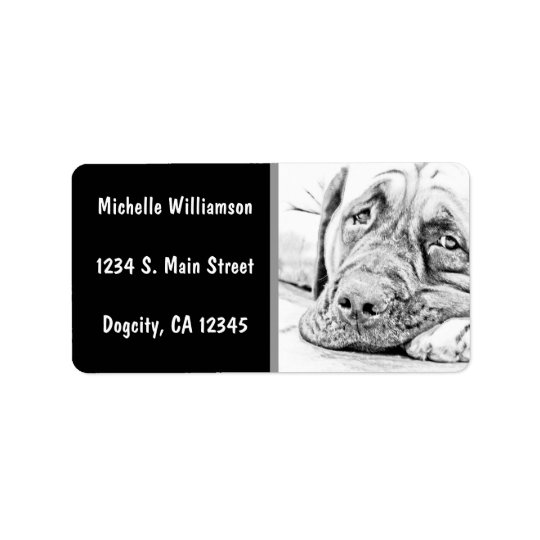 Lazy Mastiff Address Label