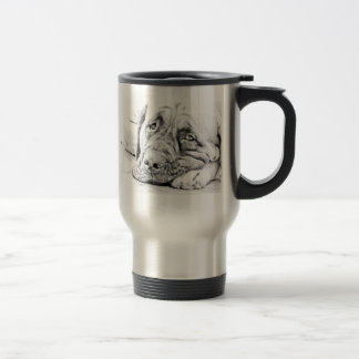 Lazy Mastiff Travel Mug