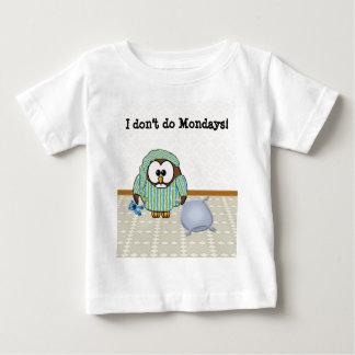 lazy owl - I don't do Mondays! T Shirts