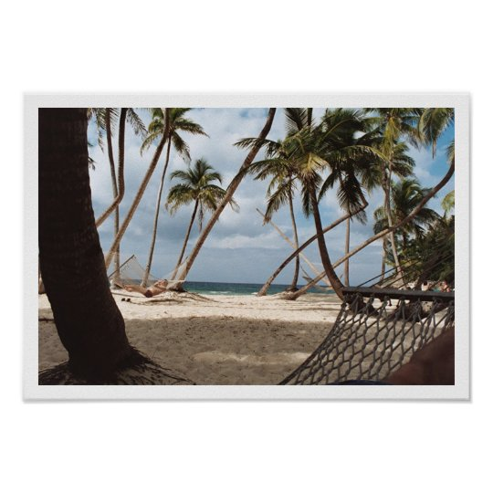 Lazy Palm Tree Days Poster