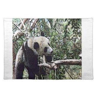 lazy panda place mats