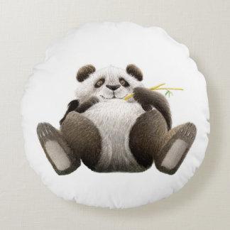Lazy Panda Round Cushion