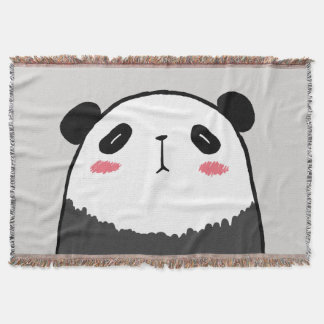 Lazy Panda Throw Blanket