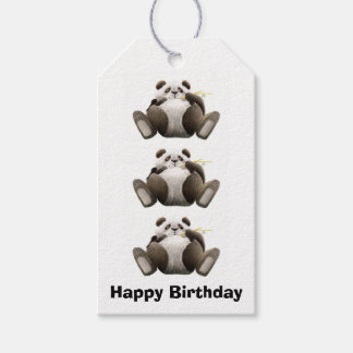 Lazy Pandas Gift Tags