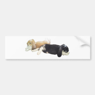 Lazy Rabbits - Bunnies Cute Sleepy Tired Weekend Bumper Sticker